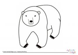 polar bear color page polar bear colouring page