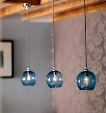 Cobalt Blue Mini Pendant Lights New Pendant Lighting Blue Glass Blown Glass Pendant Lights Blue