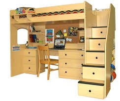 Kids Storage Beds With Desk Bunk Beds Bunk Bed Desk Under Double Loft With Full Size Be Bunk