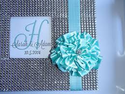 wedding guest book set bling flower guest book set rhinestone wedding guestbook sign