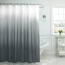 Roller Shower Curtain Rings Ideas Amazon Com Creative Home Ideas Ombre Textured Shower Curtain With