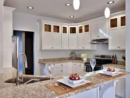 amarello ornamental granite kitchen contemporary with recessed
