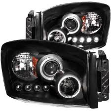 Dodge Ram Cummins Accessories - anzo 111209 ram 2500 3500 projector headlights halo