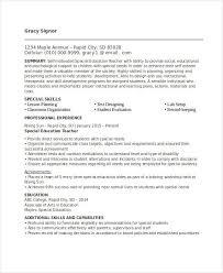 Entry Level Teacher Resume Best Education Resume Templates 21 Free Word Pdf Documents