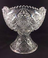 Pedestal Punch Bowl Cut Glass Punch Bowl Ebay