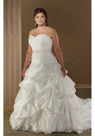wedding dresses plus size uk buy cheap strapless beading ruffle satin plus size customized