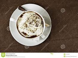 coffee with cream top view royalty free stock images image 31619309