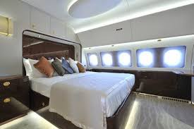 private jet inside photos bedroom