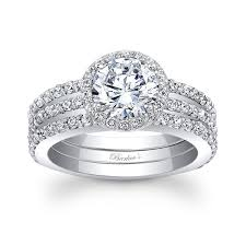 halo wedding ring barkeb s halo bridal set 7895s2