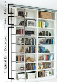 Sauder Harbor Bookcase Library Wall Bookcase Billy Bookcase Hack With Sliding Ladder