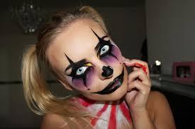 creepy clown halloween make up tutorial youtube