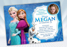 frozen invitation anna elsa olaf frozen invitation