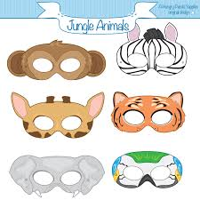 jungle animals printable masks monkey mask zebra tiger