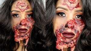 maquillaje de halloween princesa zombie quemada tutorial