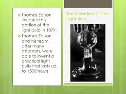 when was light bulb invented invention power point