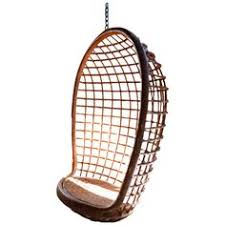 Enclosed Egg Chair Enclosed Bamboo Canopy Chair With Upholstered Seat Cushion From