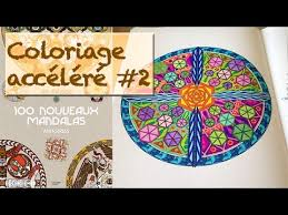 Coloriage accéléré ✐ Les 100 Nouveaux Mandalas ✐  YouTube