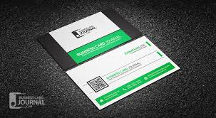 Business Card With Qr Code Refreshing Green Qr Code Business Card Template