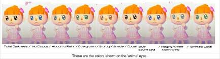 all acnl hairstyles with colours acnl hair guide fabulous animal crossing new leaf face guide hd