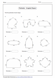 worksheets for finding perimeter of irregular shapes google