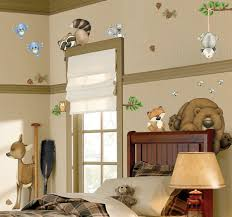 Childrens Bedroom Borders Stickers Amazon Com In The Woods Wildlife Animal Stickers Wall Decals