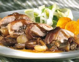 filets de faisan aux chignons et aux oignons colruyt