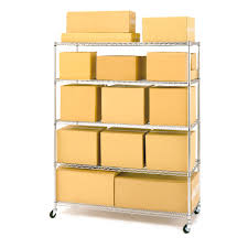 seville classics 5 shelf steel wire shelving system with casters
