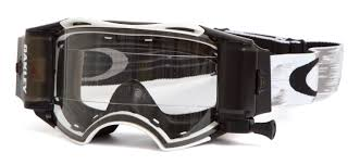 oakley motocross goggles oakley goggle airbrake mx race ready roll off matte white speed