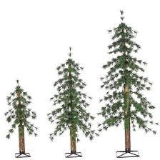 3 pc set unlit alpine tree tfloral