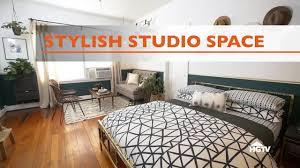 stylish studio apartment makeover hgtv youtube