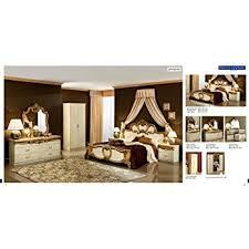 barocco bedroom set amazon com esf barocco traditional ivory veneer with gold accents