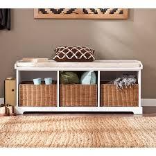 harper blvd lima white entryway storage bench by harper blvd