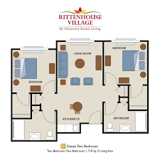 senior living floor plans rittenhouse village at valparaiso
