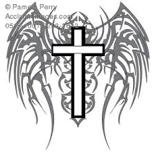 wings clipart cross pencil and in color wings clipart cross