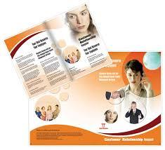 crm tele marketing brochure templates design