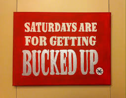 Ohio State Home Decor Saturdays Are For Getting Bucked Up Ohio State Buckeye Nation