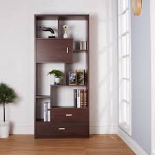 organized and attractive this vintage walnut bookcase features