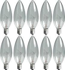 Candelabra Light Fixtures Ge Lighting Crystal Clear 74974 15 Watt 95 Lumen Blunt Tip Light
