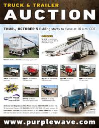 used kenworth semi trucks for sale sold october 5 truck and trailer auction purplewave inc