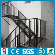 outdoor prefab spary painting metal stair railing design view