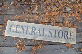 general store distressed wood sign approx 8