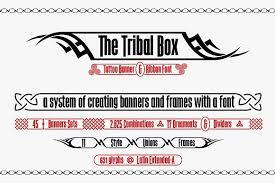 the tribal box banner font display fonts creative market