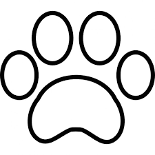 paw print template paw print outline icons free