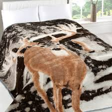 Faux Fur Bed Throw Dreamscene Animal Print Faux Fur Large Mink Throw Warm Fleece Bed