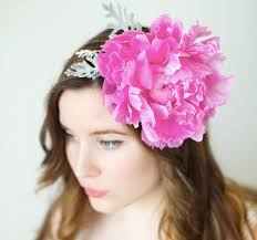 flower hairband how to make a peony headband a floral diy tutorial