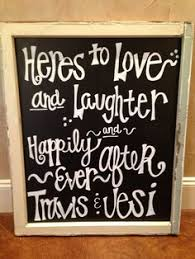 Chalkboard Wedding Sayings Modern Long Island City Wedding Long Island City Long Island