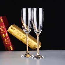 wedding goblets 2017 grade flutes cups gold wedding goblets set change