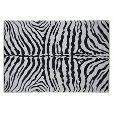 White And Black Area Rug Fun Rugs Supreme Tsc 045 Zebra Skin Area Rug Black White