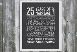 25 wedding anniversary gift wedding gift creative gift for 25 wedding anniversary on their