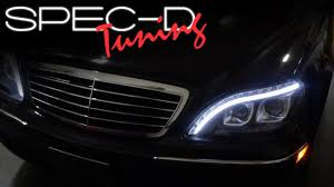 mercedes headlights specdtuning installation video 1998 2006 mercedes benz s class